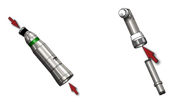Lubricate low speed handpiece
