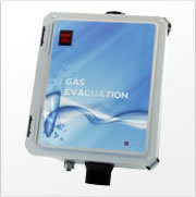 Gas evacuation ventilator