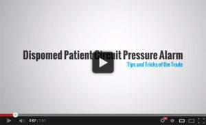 Dispomed Patient Circuit Pressure Alarm Video