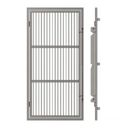 Portes d'enclos grillagées avec cadre