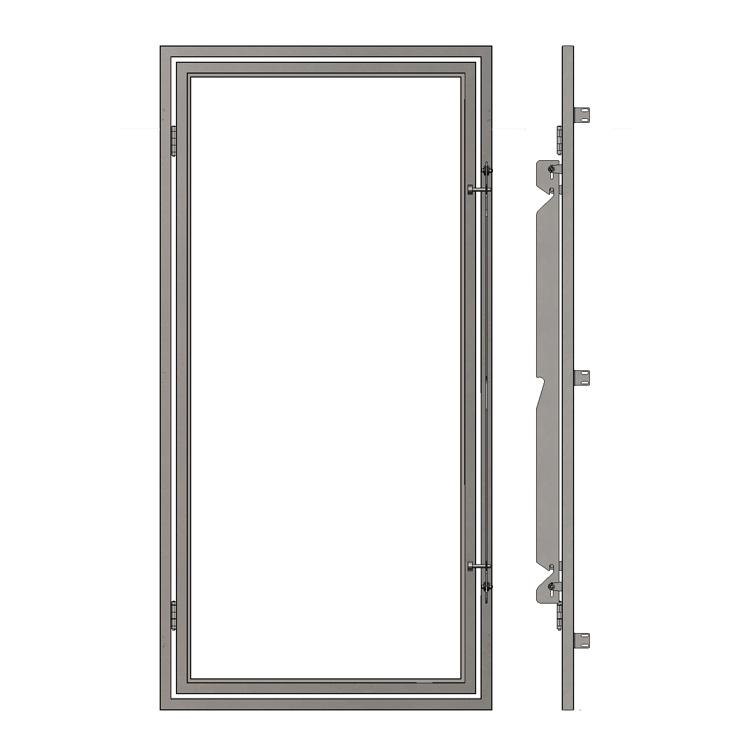 Portes d'enclos vitrées avec cadre