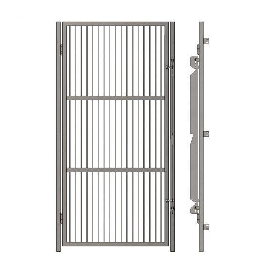Portes d'enclos grillagées sans cadre