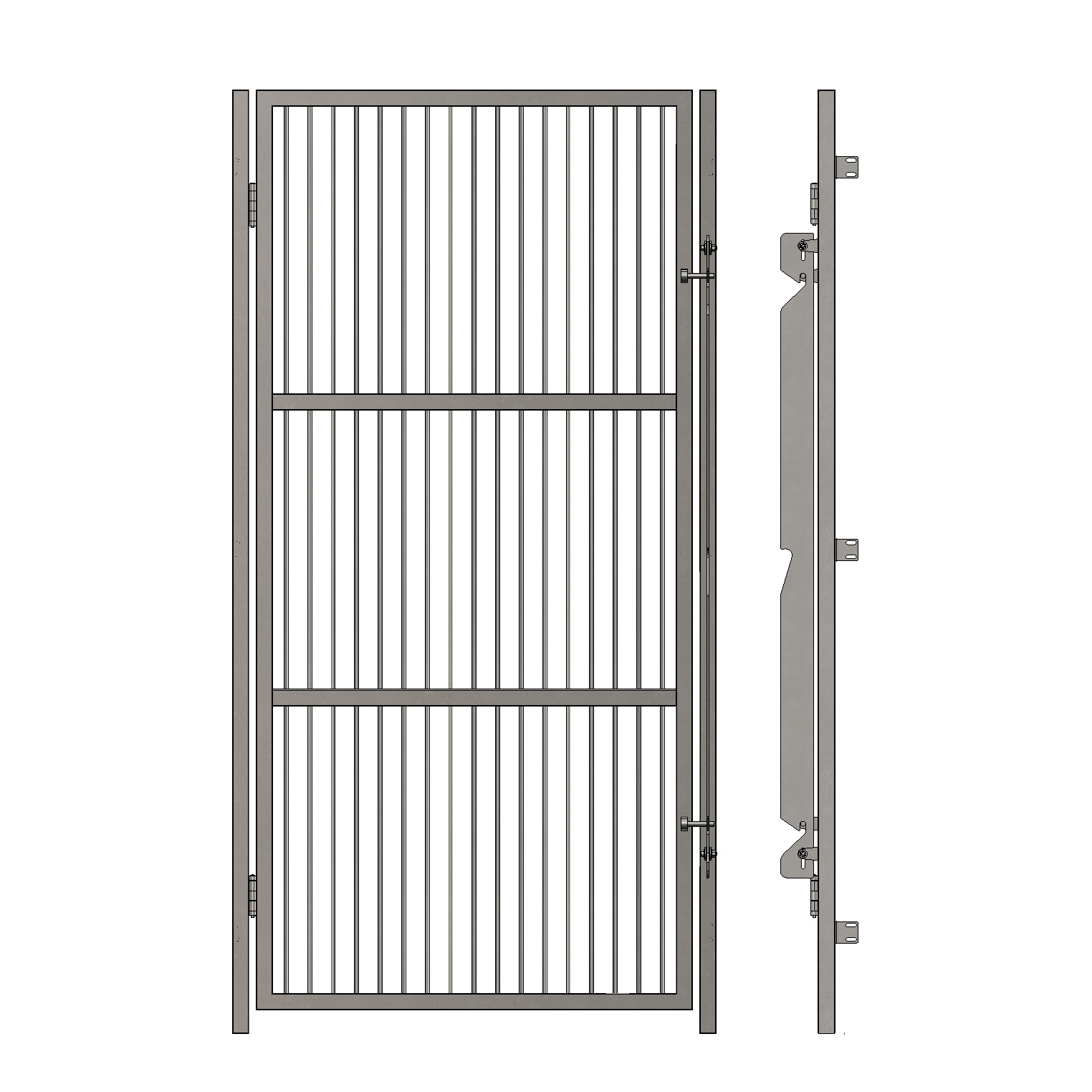 Grill Kennel Doors Without Top and Bottom Frame - Dispomed