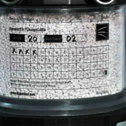 Étiquette indicatrice de péremption de la chaux sodée