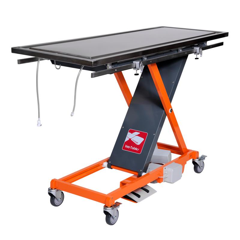 Table à ciseau Vet-Table avec plateau de chirurgie chauffant et couleur en option