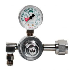 Large Cylinder Chrome Plated Brass Regulator