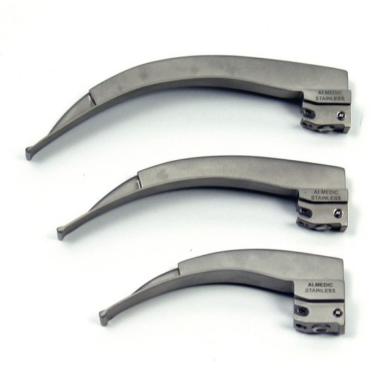 McIntosh Fiber Optic Laryngoscope Blades