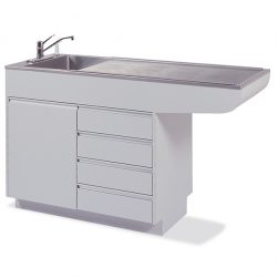Laminated Imperial 6 Recessed End Prep-Procedure Table (Faucet sold separately)