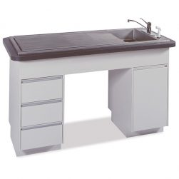 Imperial 6 Recessed Middle Prep-Procedure Table (Faucet sold separately)
