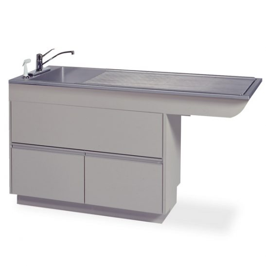 Regal 6/18 Multi-Depth Recessed-End Prep-Procedure Table (Faucet sold separately)