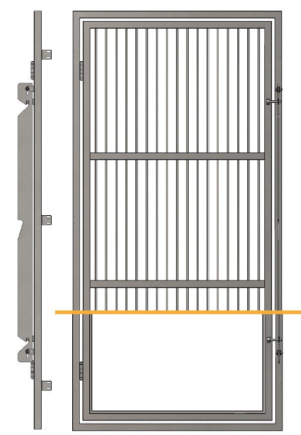 Porte d'enclos