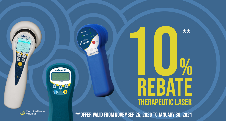 10% Rebate on Therapeutic Laser